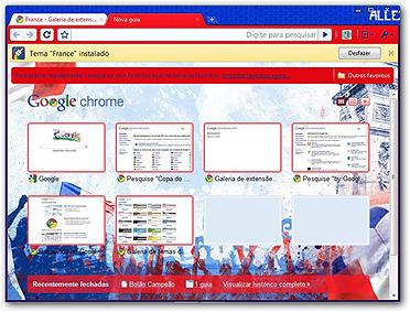 Google Chrome Temas