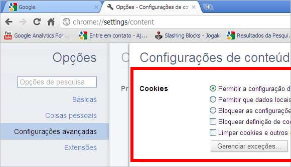 Google Chrome Cookies